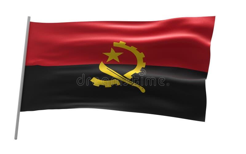 Vlag van Angola stock illustratie