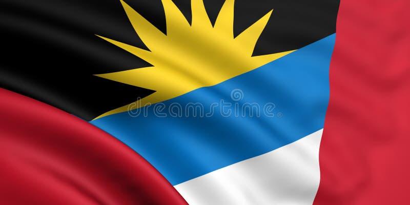 Vlag van Antigua en Barbuda stock illustratie