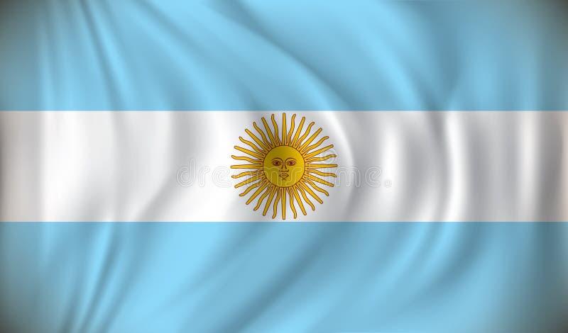 Vlag van Argentinië royalty-vrije illustratie
