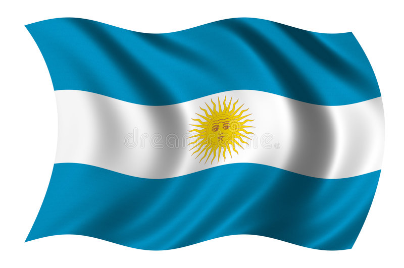 Vlag van Argentinië stock illustratie