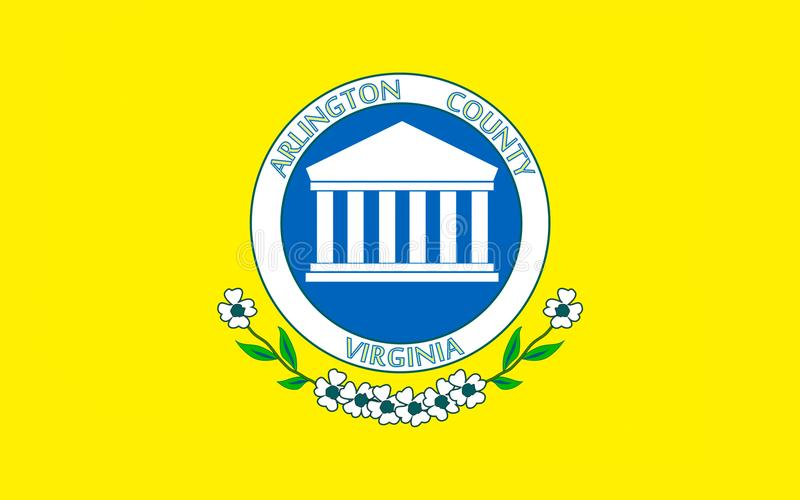 Vlag van Arlington-Provincie in Virginia, de V.S. royalty-vrije stock afbeeldingen
