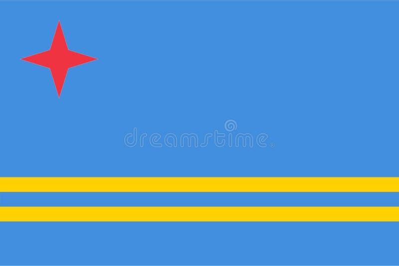 Vlag van Aruba stock illustratie