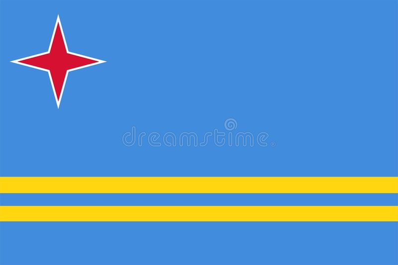 Vlag van Aruba royalty-vrije illustratie
