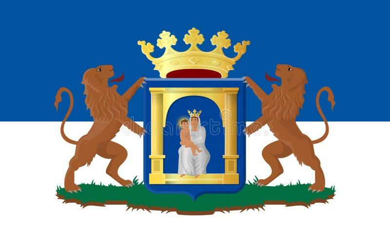 Vlag van Assen van Nederland stock illustratie