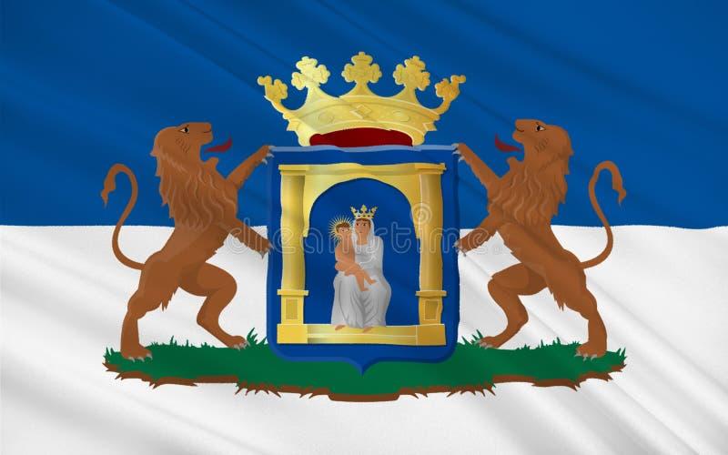 Vlag van Assen van Nederland vector illustratie