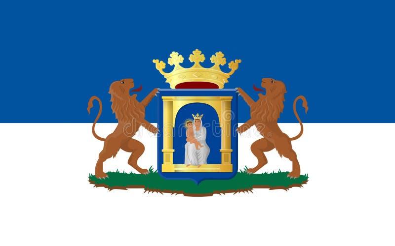 Vlag van Assen van Nederland royalty-vrije illustratie