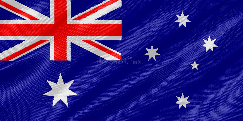 Vlag van Australië stock illustratie