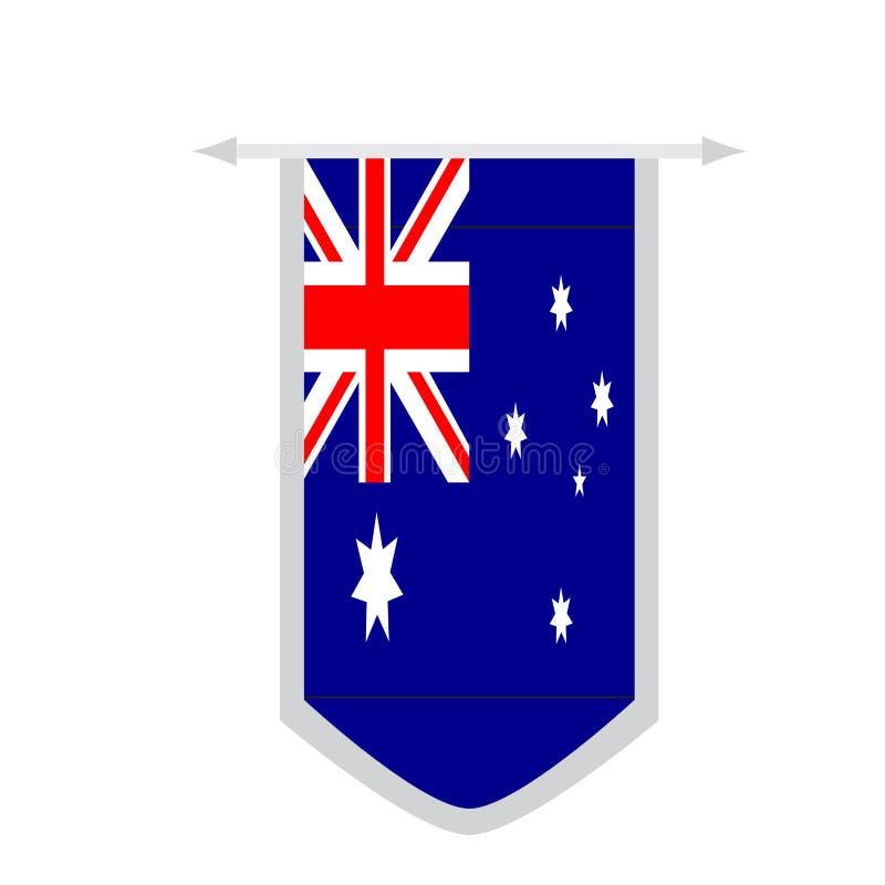 Vlag van Australië op een banner stock illustratie