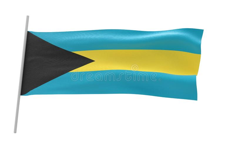 Vlag van Bahama royalty-vrije illustratie