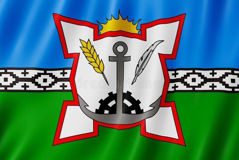 Vlag van Bahia Blanca-stad, Argentinië royalty-vrije illustratie