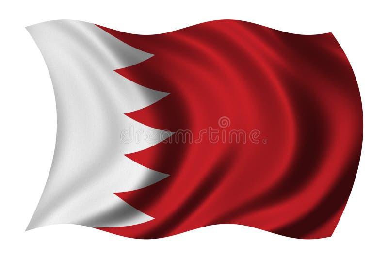 Vlag van Bahrein royalty-vrije illustratie