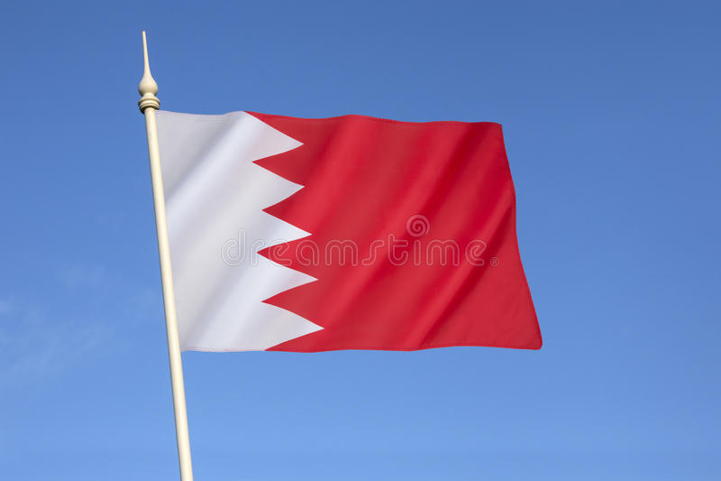 Vlag van Bahrein stock foto