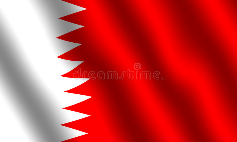 Vlag van Bahrein stock illustratie