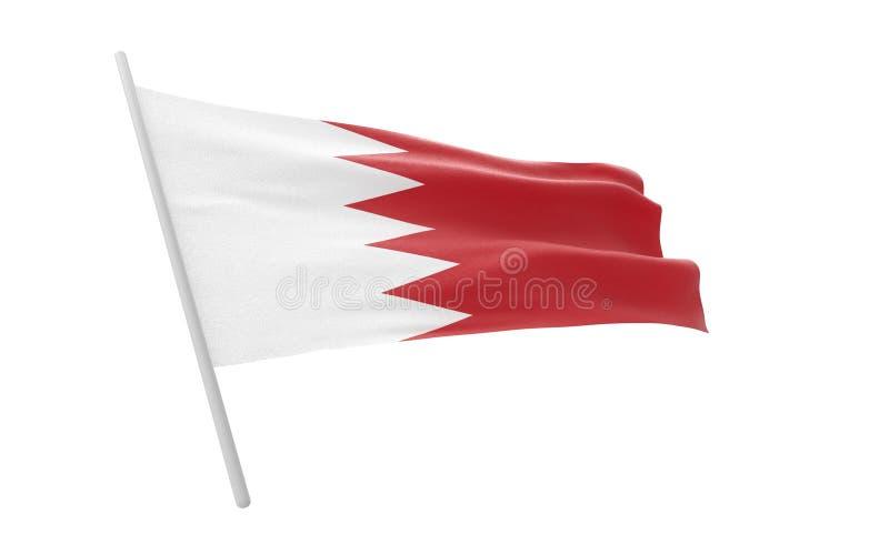 Vlag van Bahrein vector illustratie