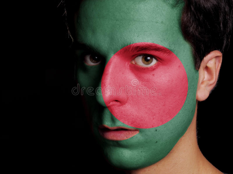 Vlag van Bangladesh stock fotografie