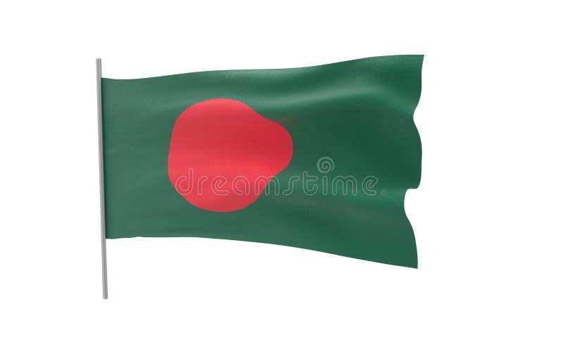 Vlag van Bangladesh vector illustratie