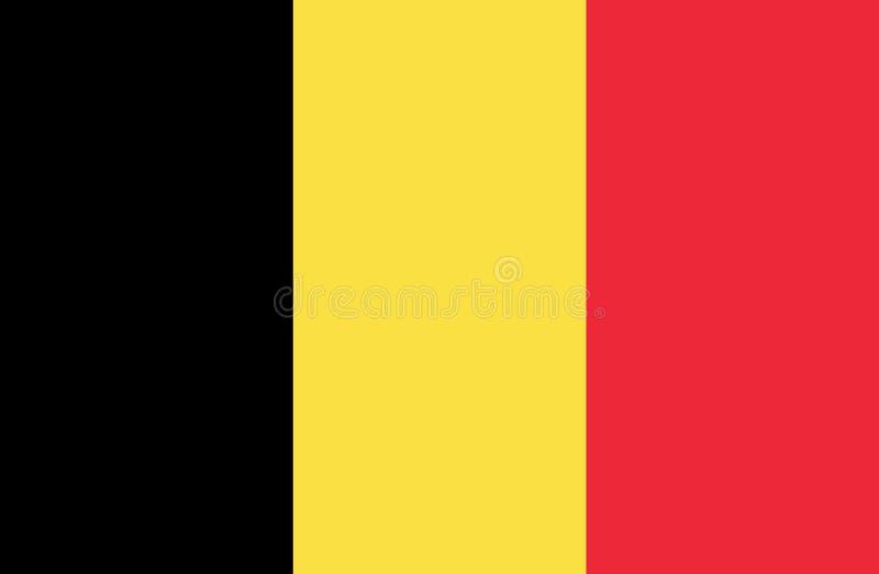 Vlag van Belgi? royalty-vrije illustratie