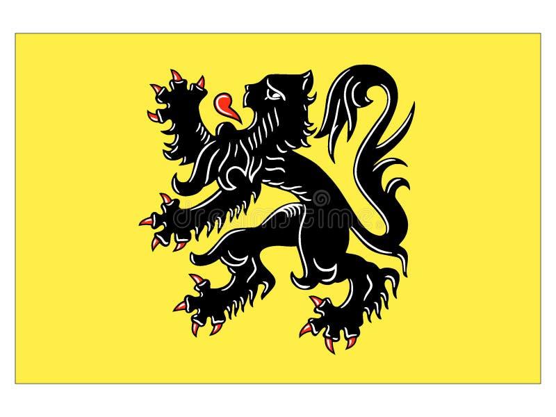 Vlag van Belgisch Gebied van Vlaanderen royalty-vrije illustratie