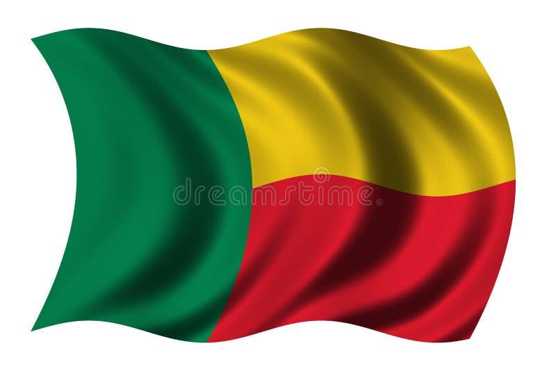 Vlag van Benin stock illustratie