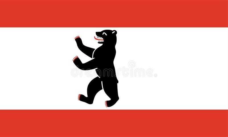 Vlag van Berlijn royalty-vrije illustratie