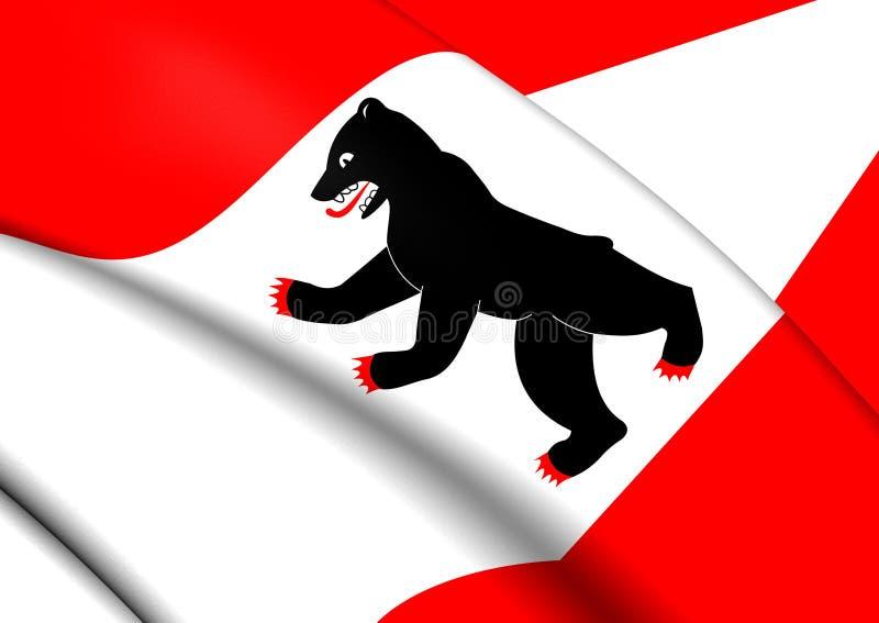 Vlag van Berlijn, Duitsland stock illustratie