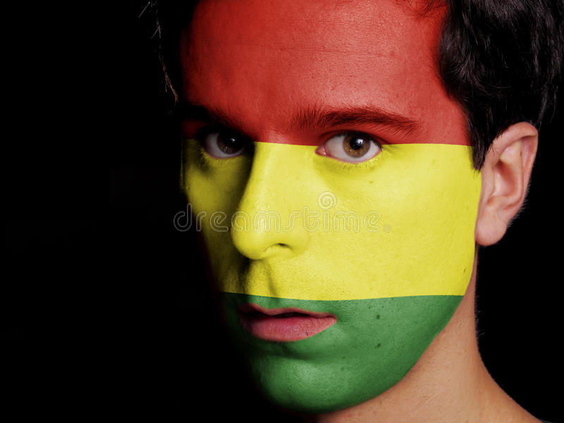 Vlag van Bolivië stock foto's