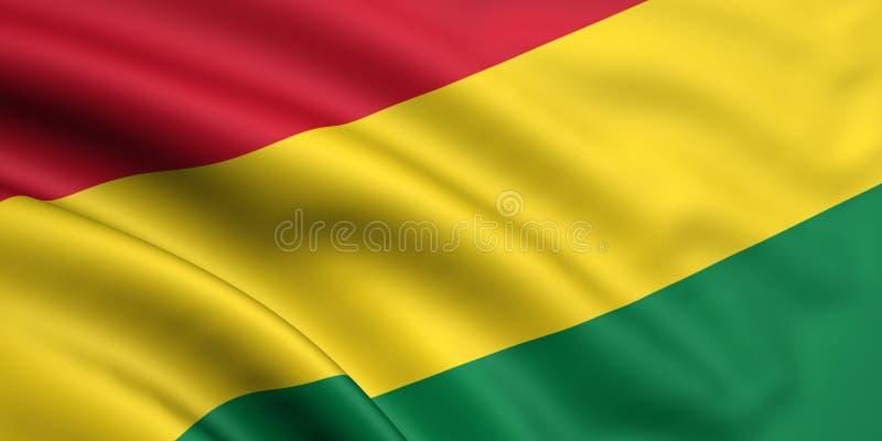 Vlag van Bolivië royalty-vrije illustratie