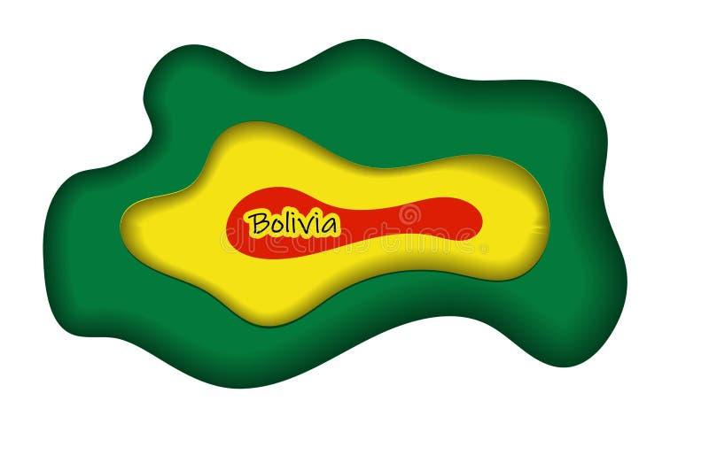 Vlag van Bolivië met van de kwaststreekeffect en informatie tekstaffiche, het ontwerp van het de vlagmalplaatje van Bolivië vector illustratie