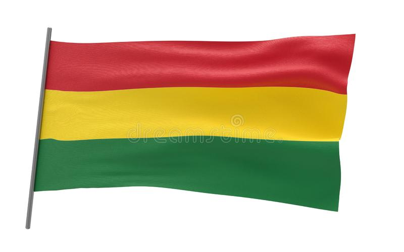 Vlag van Bolivi? royalty-vrije illustratie