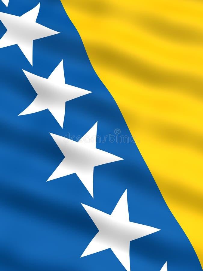 Vlag van Bosnia & Herzegovina stock illustratie