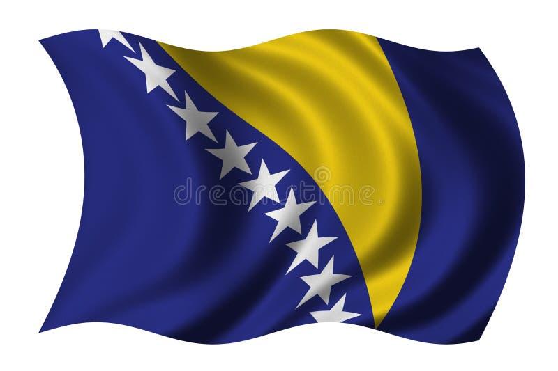 Vlag van Bosnia - Herzegovina royalty-vrije illustratie