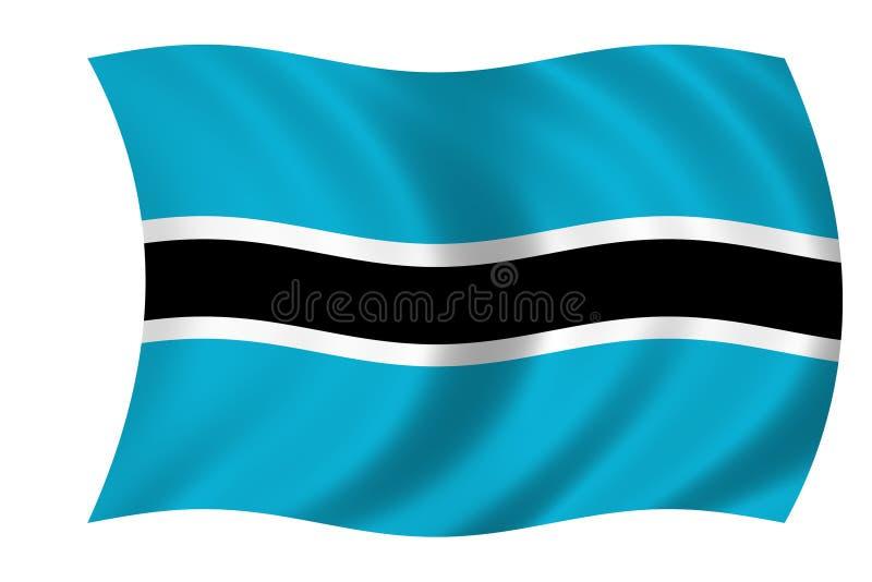 Vlag van Botswana vector illustratie
