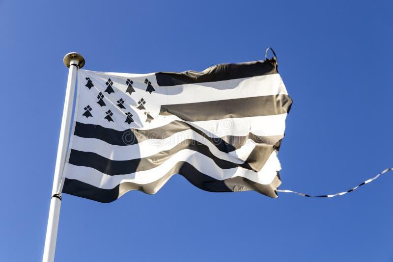 Vlag van Bretagne royalty-vrije stock foto