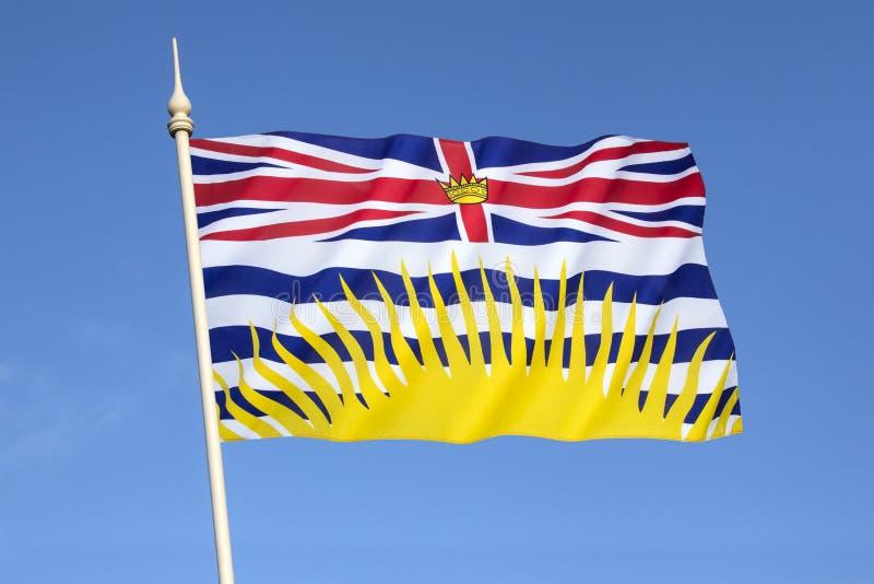 Vlag van Brits Colombia - Canada stock foto's