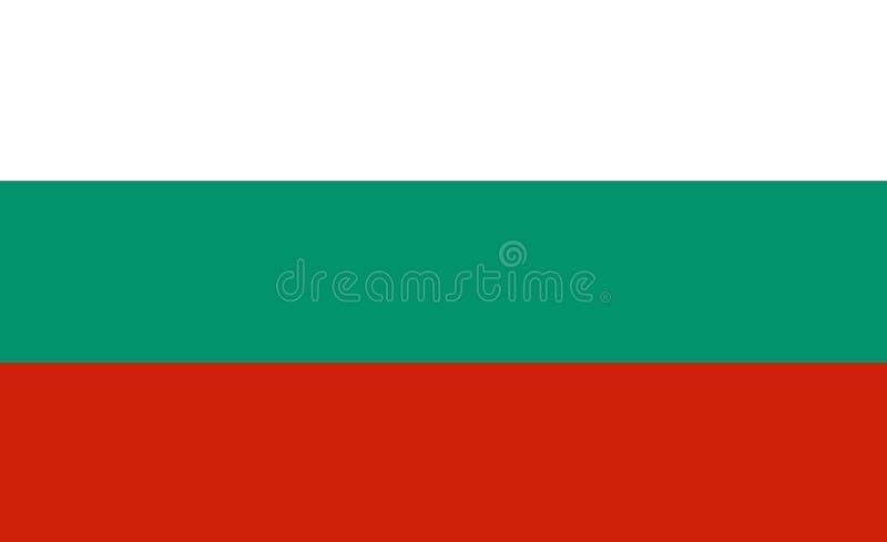 Vlag van Bulgarije vector illustratie