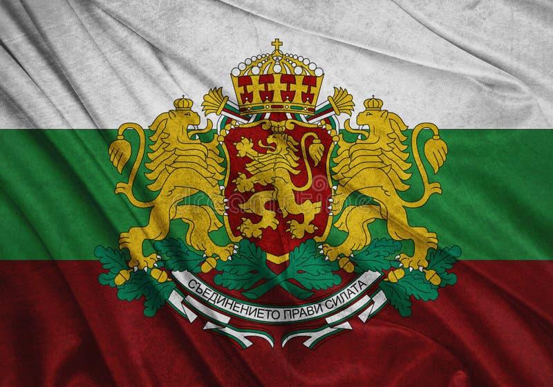 Vlag van Bulgarije stock illustratie