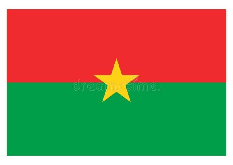 Vlag van Burkina Faso royalty-vrije illustratie