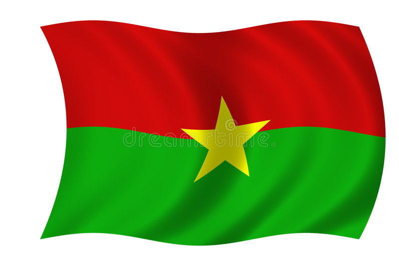 Vlag van Burkina Faso vector illustratie