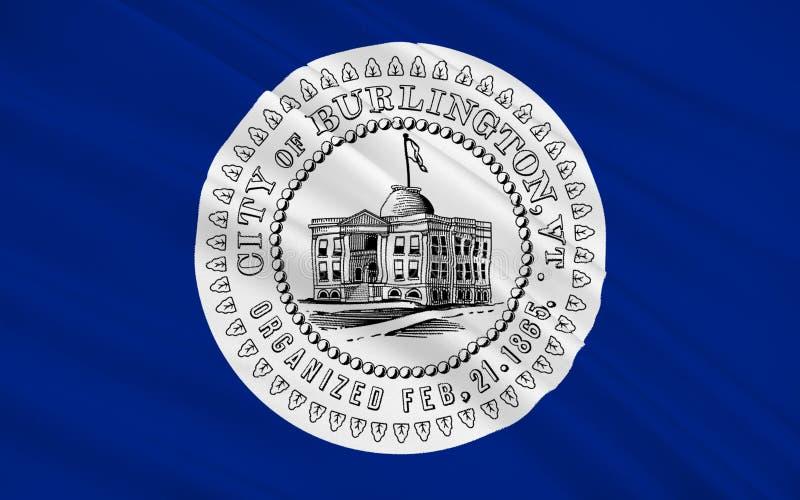 Vlag van Burlington in Vermont, de V.S. stock illustratie