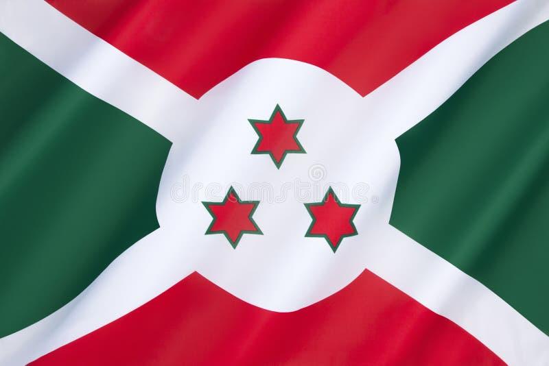 Vlag van Burundi stock fotografie