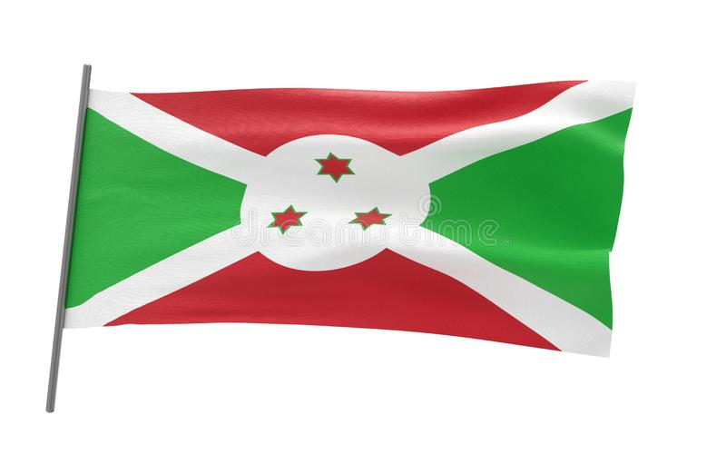 Vlag van Burundi royalty-vrije illustratie