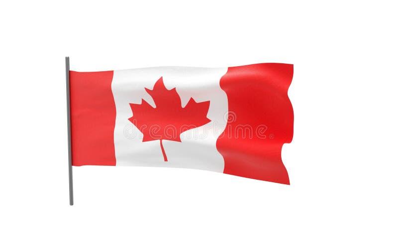 Vlag van Canada stock illustratie