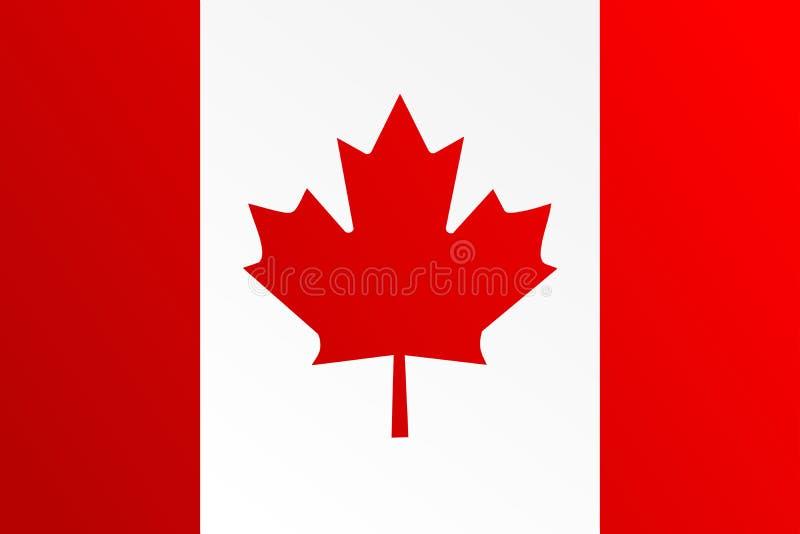 Vlag van Canada met overgangskleur - vectorbeeld royalty-vrije illustratie