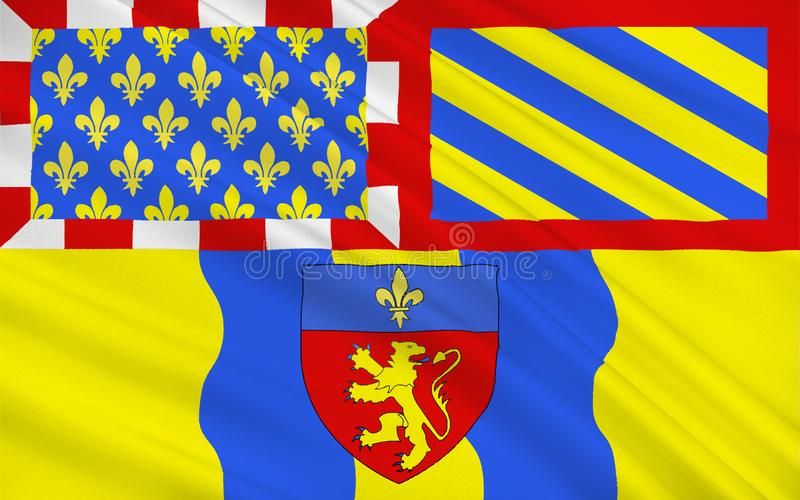 Vlag van Charolles, Frankrijk stock afbeeldingen