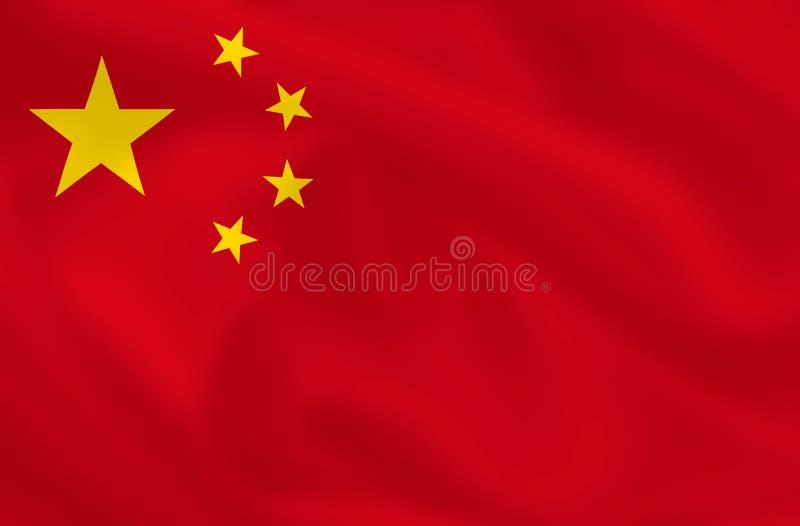 Vlag van China stock illustratie