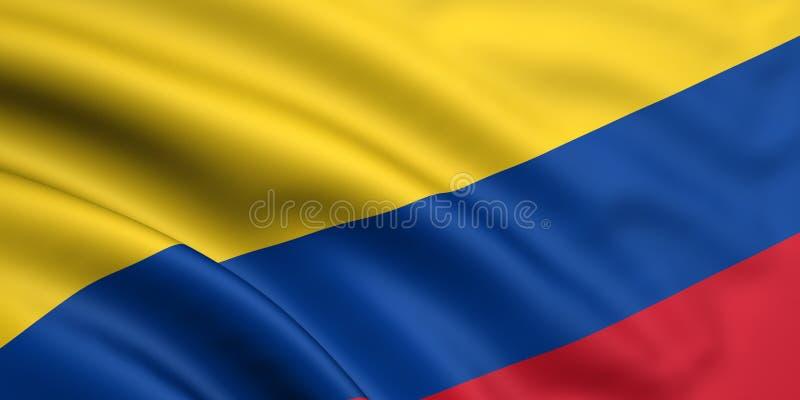 Vlag van Colombia stock illustratie