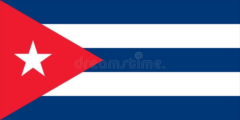 Vlag van Cuba - Cubaan stock illustratie
