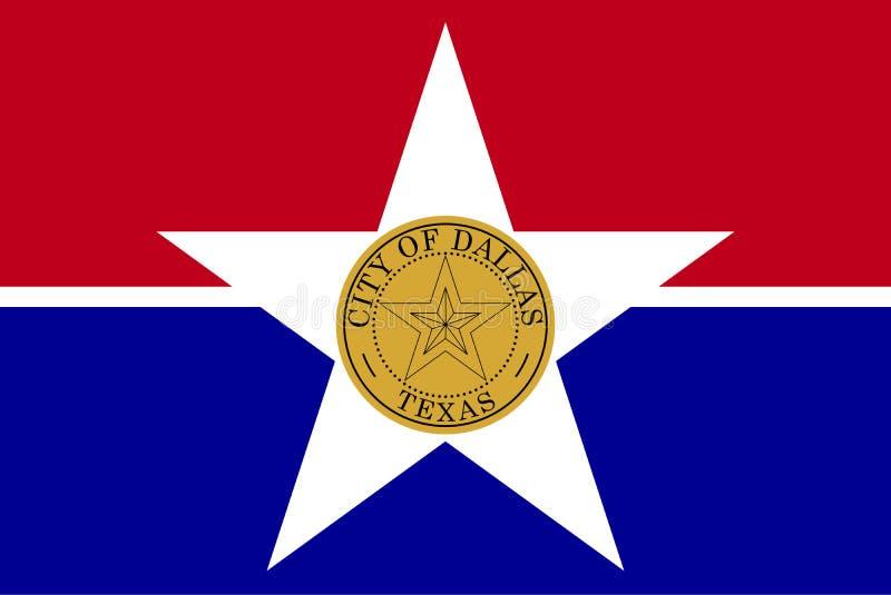 Vlag van Dallas, Texas, de Verenigde Staten van Amerika Vector illustratie vector illustratie