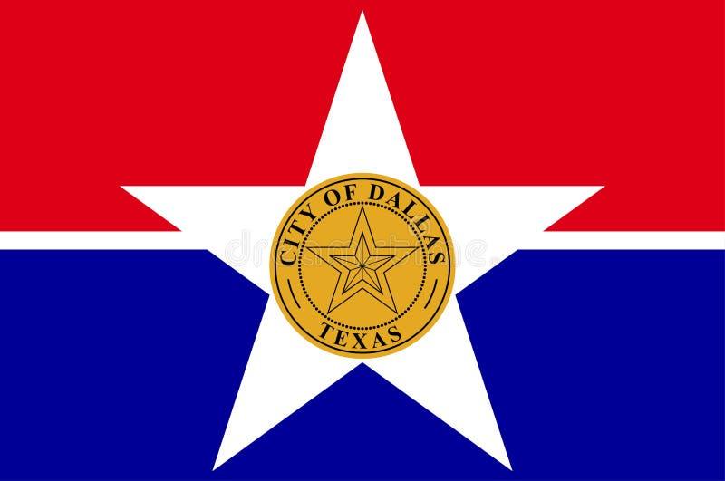 Vlag van Dallas in Texas in Verenigde Staten stock illustratie