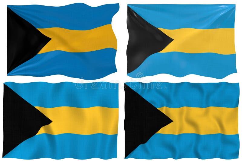 Vlag van de Bahamas vector illustratie